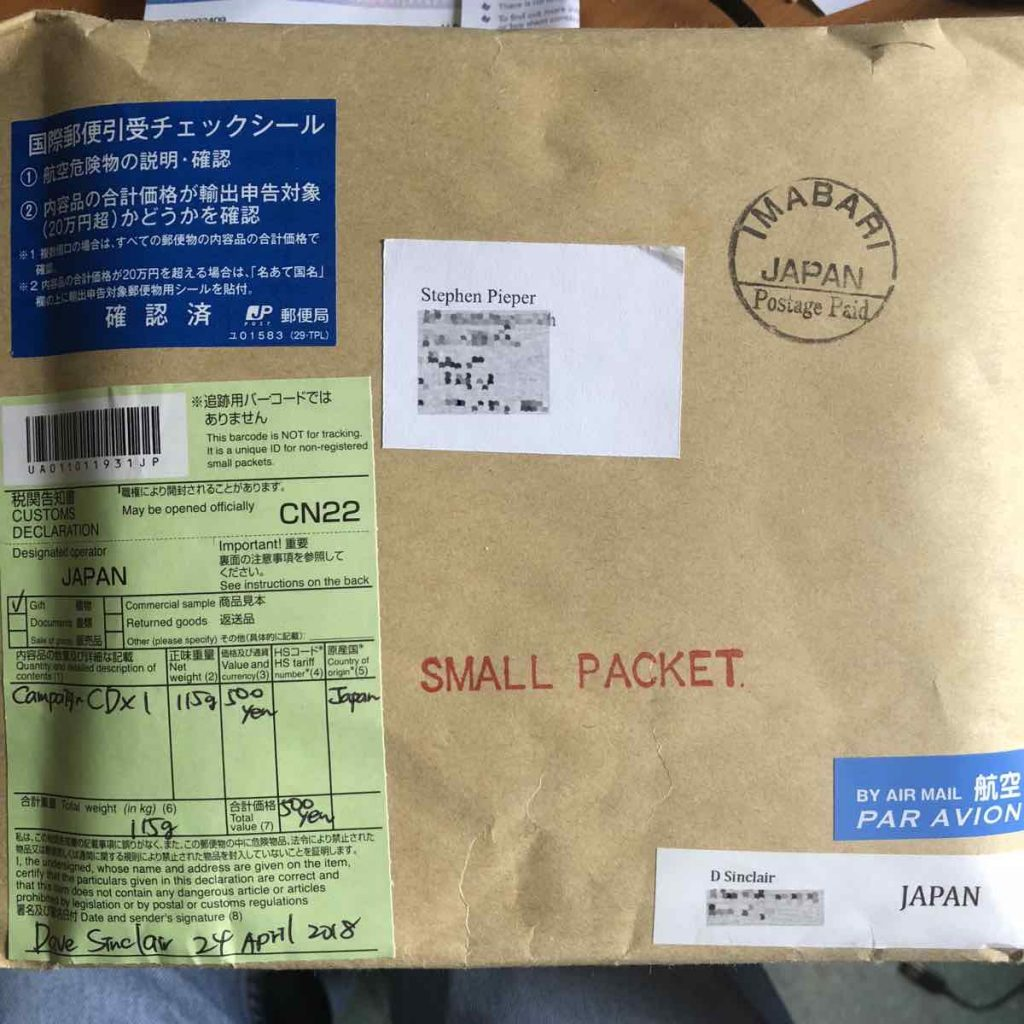 mail from japan