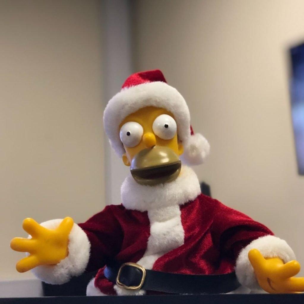 Santa Homer Simpson
