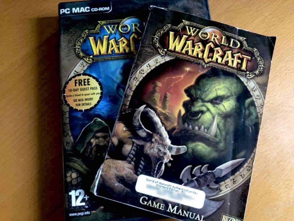 Original World Of Warcraft game box plus manual